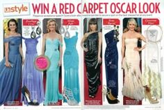 From the 3/19/12 issue of Us Weekly...  four of our pieces were featured in their rendition of popular red carpet looks...