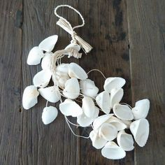 shell garland for christmas tree, maybe spray silver