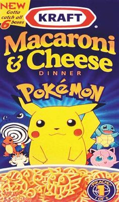 Pokemon Macaroni & Cheese. I WANNA EAT IT!