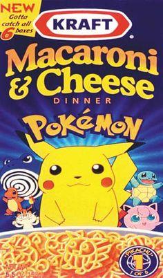 Pokemon Macaroni & Cheese. I WANNA EAT IT!