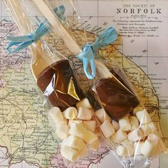 hot chocolate dipper with marshmallows by the chocolate deli | notonthehighstreet.com