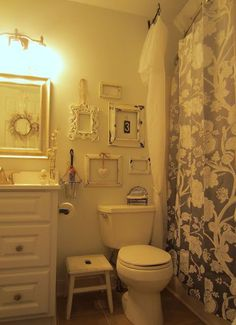 Down to Earth Style: Shabby Guest Bath
