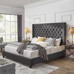 45 amazing master bedroom paint colors inspiration 2 aegisfilmsales com Master Bedroom Paint, Upholstered Panel Bed, Simple Bedroom, Grey Upholstered Bed, Small Bedroom, Remodel Bedroom, Modern Bedroom, Upholstered Platform Bed, Luxurious Bedrooms