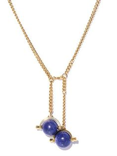 Abby lapis & gold-tone necklace | Chloé | MATCHESFASHION.COM