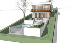 House Design For Sloped Land: The Architect » Modern House Plan For A Land With A Big Downhill Slope,Interior