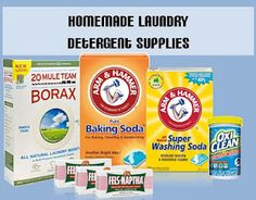 Homemade Laundry Detergent - dry recipe. Must try!