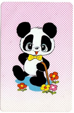 Vintage BLANK BACK 1970s swap cards panda bears in Collectables, Paper…