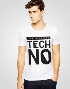Tak Bardzo Techno T-shirt T Shirty, Man Fashion, Techno, Mens Tops, Shopping, Moda Masculina, Fashion Men, Men's Fashion Styles, Techno Music