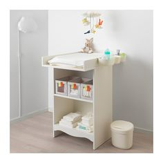 IKEA SOLGUL changing table Comfortable height for changing the baby.