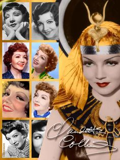Claudette Colbert (Sept. 13, 1903-July 30, 1996) was a French-born American actress, & a leading lady for two decades. She began her career in Broadway productions during the 1920s, progressing to film with the advent of talking pictures. She won the Academy Award for Best Actress in It Happened One Night (1934). Colbert was known as an expert screwball comedienne. During her successful career, she starred in more than 60 films & was the biggest box-office star in 1938 & 1942.
