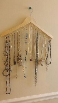 Necklace Hanger! So simple I just finished mine!