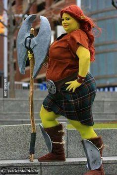 Fiona cosplay   shrek plus size cosplay