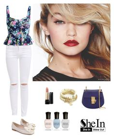 """""""Shein 9."""" by amra-f ❤ liked on Polyvore featuring Maybelline, Chloé, Juicy Couture, Lancôme and Deborah Lippmann"""
