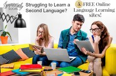 """Learning a second language is on the """"To-Do"""" list for many, but let's face it, the process can be super hard! Today, I'm sharing 5 Free Online Learning Sites with you to make it a little bit easier, plus I've got some bonuses at the bottom, so be sure to scroll all the way down… #abroad #languages #learning"""
