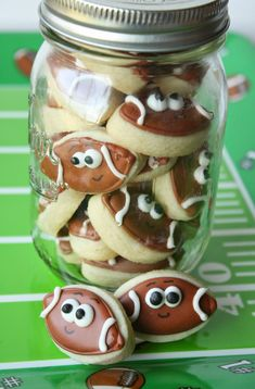 Mini Football Cookies