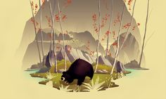 The Most Patient Bear by Brian Miller, via Behance