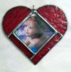 valentines day heart in red--a perfect way to display your loved ones within a suncatcher and picture frame combination duo:-)!