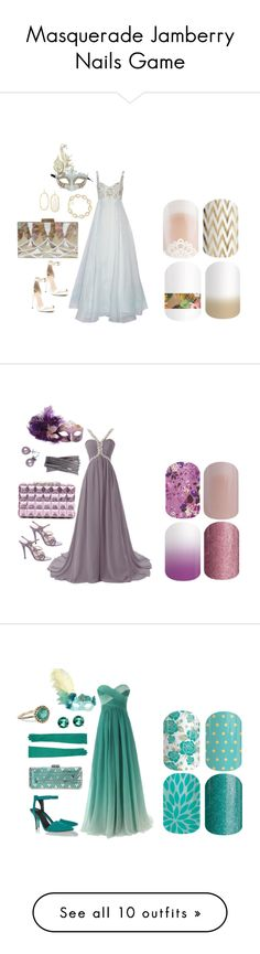 """Masquerade Jamberry Nails Game"" by kspantonjamon on Polyvore"