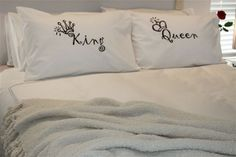 Couples Pillow Cases King and Queen pillowcase by CushyBusiness, $29.95