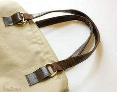 Tutorial: Reversible leather and cotton belting bag handles | Sewing | CraftGossip.com