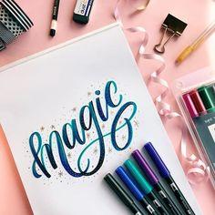 Brush lettering inspiration.