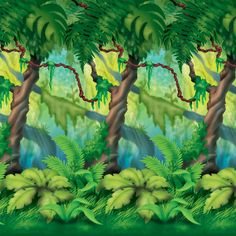 Jungle Trees Backdrop Includes (1) 4' x 30' plastic wall backdrop. Roll is not self-adhesive. Weight (lbs) 1.23 Length (inches) 26.5 Width (inches) 6 Height(inches) 1