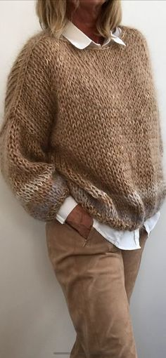 Trendy Ideas For Knitting Patterns Free Cardigans Chunky Mode Outfits, Casual Outfits, Fashion Outfits, Womens Fashion, Look Fashion, Autumn Fashion, Crochet Poncho, Chunky Crochet, Knitting Patterns Free