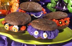 Spooky Monster Cookies.  Almost pure icing, the kids will love it.