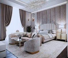 33 Amazing Luxury Living Room Designs Look Classy - Luxurious living room spells different to everyone but each of us has a common notion of what is luxurious and not. While some people's standards of l. Luxury Bedroom Design, Master Bedroom Design, Luxury Interior, Interior Design, Living Room Designs, Living Room Decor, Bedroom Decor, Bedroom Designs, Cozy Bedroom