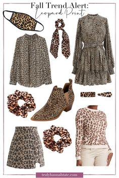 Leopard Face, Leopard Sweater, Leopard Dress, Scarf Hairstyles, Fall Trends, Fall Looks, Outfit Posts, Cheetah Print, Fashion Stylist