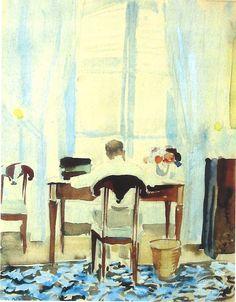 watercolor of Stephane Boudin....