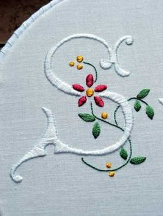 Embroidered monogram S   ~ Shirley <3