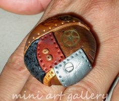 steampunk polymer clay jewelry - Google Search
