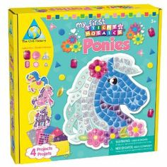 The Orb Factory My First Sticky Mosaics Ponies by The Orb Factory. $9.99. Complete 4 Pony designs with all the ease of sticky mosaics. The award winning line of sticky mosaic craft kits will delight all ages and all skill levels. Great for play dates and birthday parties. 4 fun projects, 4 wall hangers and 700+ colorful sticky foam and sparkling jewel pieces. New for 2011. From the Manufacturer                Enjoy the simple Unicorn themed projects that encourage number, co...