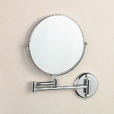 """High Quality 8"""" Dual Makeup Mirrors 1:1 and 1:3 Magnifier Copper Cosmetic Bathroom Double Faced Wall Mounted Bath Mirror 1308"""