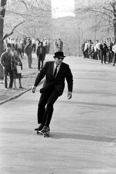 Skateboarding in Central Park, New York, in 1965