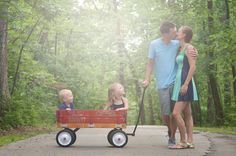 Charis Rowland Photography- natural light photography,  family photography, outdoor family photo, kids in wagon, family pose