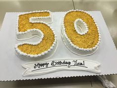 50th birthday cake gold glitter numbers spring 2015