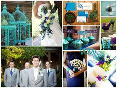perfectly peacock wedding palette. Thank you @Jennifer Warren