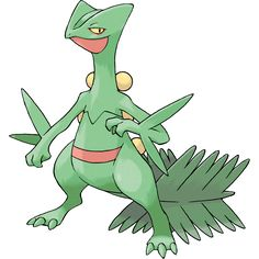 Sceptile (Pokemon) - Newcomer from the Pokemon series. Based on Pokemon Ruby and Sapphire as well as Omega Ruby and Alpha Sapphire. Medium build character