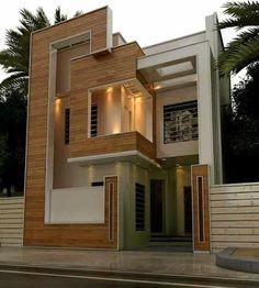 New House Front Design Tiles Ideas House Outside Design, House Front Design, Minimalist House Design, Modern House Design, 20x40 House Plans, Architectural House Plans, Bungalow House Design, 3d Home, Facade Design