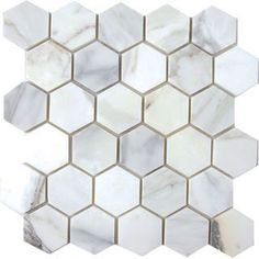 Calacatta gold hex tile for floor