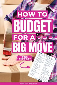 Moving can be stressful, and you may find it even more stressful to stick to a budget while moving. Here are six tips for sticking to a budget when you're planning your next big move. | The Budget Mom Saving Money Quotes, Money Saving Challenge, Money Saving Tips, Saving Ideas, Money Tips, Budgeting Finances, Budgeting Tips, Money Plan, Big Move