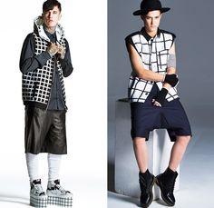 Piece D'Anarchive 2014 Spring Summer Mens Lookbook Presentation - Paris Fashion Week - Mode à Paris - Apocalyptic Streetwear Black Windowpan...