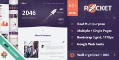 Rocket - Creative Multipurpose HTML Template • Download theme ➝…
