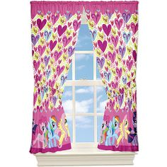 My Little Pony Microfiber Window Curtain Panels, Set of 2 I cant find these curtains anywhere Small Boys Bedrooms, Big Girl Rooms, Girls Bedroom, Bedroom Decor, Bedroom Ideas, Dream Bedroom, Kids Rooms, Window Panels, Panel Curtains