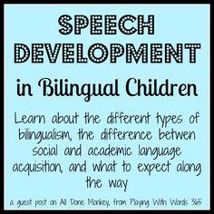 speech development in bilingial children