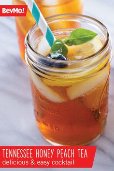 This Tennessee Honey Peach Tea recipe was practically made for enjoying at your outdoor party. Along with honey whiskey from BevMo! this combination of peach puree, ice tea, and mint, makes one truly delicious and easy cocktail for spring.