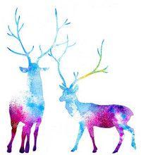 My Deer Universe - NEW Painting Art Print by Annya Kai - Mod...