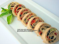 Pan Gravy Kadai Curry: Tortilla roll-ups and the winner of CSNStores gift e-card giveway